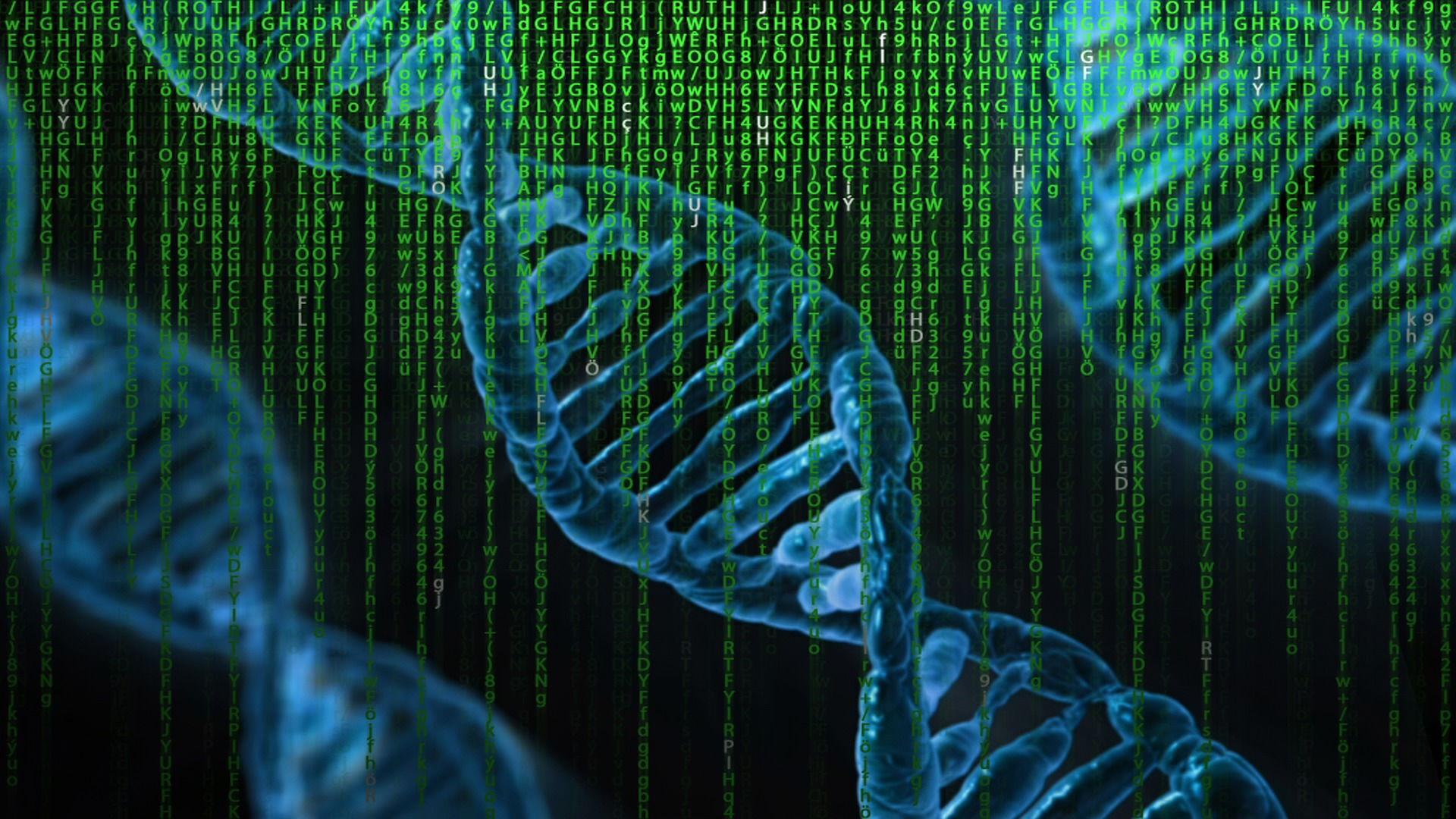Ilustracja trzech nici DNA.