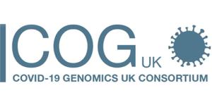 Logo brytyjskiego konsorcjum COVID-19 Genomics UK (COG-UK)