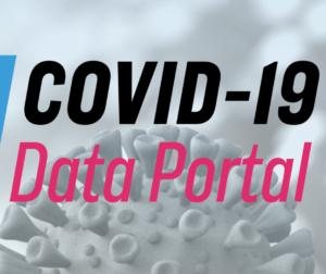 Logotyp platformy Covid-19 Data Portal.