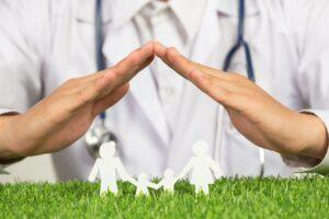 Obrazek zachęcający do szczepień w celu ochrony społeczeństwa