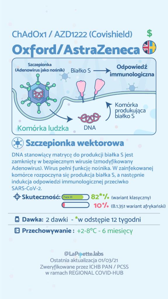 infografika dotycząca szczepionki Oxford/Astra Zeneca